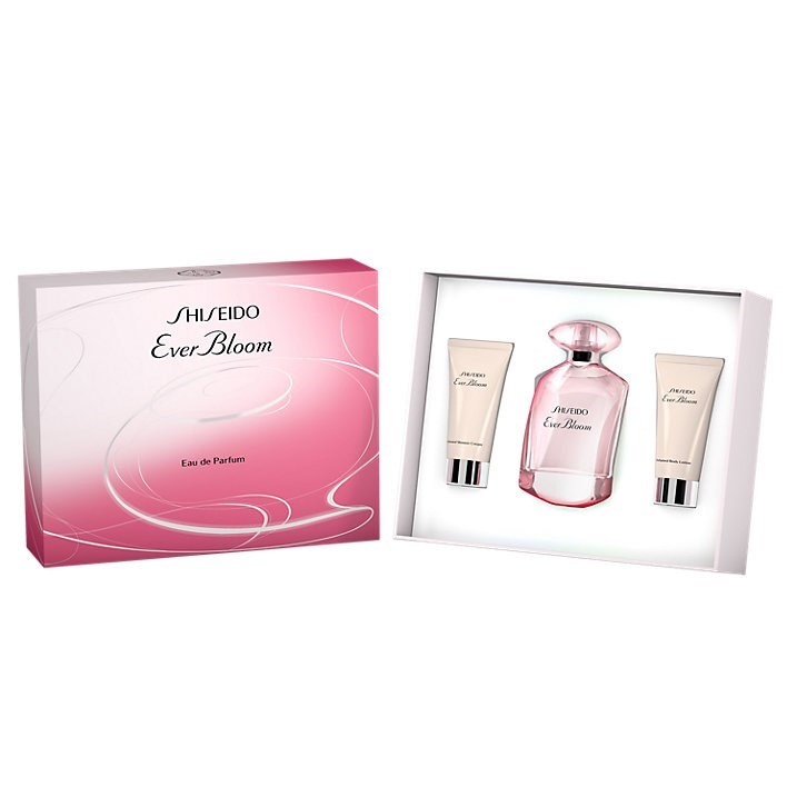 Shiseido Ever Bloom Edp Set (Edp 50 ml + Body Lotion 50 ml + Shower Cream 50 ml)